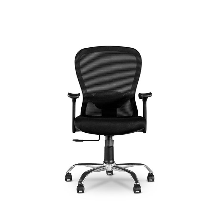 Paris Medium Back Ergonomic Chair in Black Colour,Office Chairs