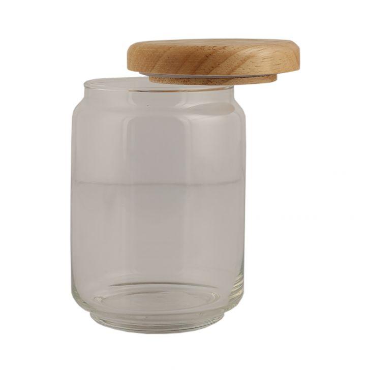 Ocean Pop Jar With Wooden Lid 500 Ml,Kitchenware