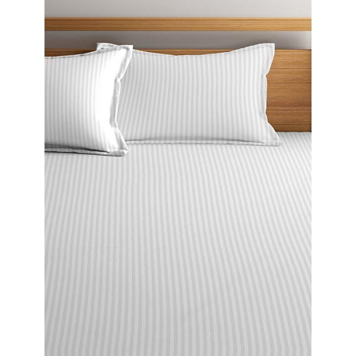 King Bedsheet Silk Satin White,King Size Bed Sheets