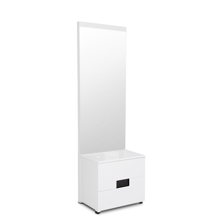 Edwina High Gloss Dresser with Mirror in White Colour,Dressing Tables