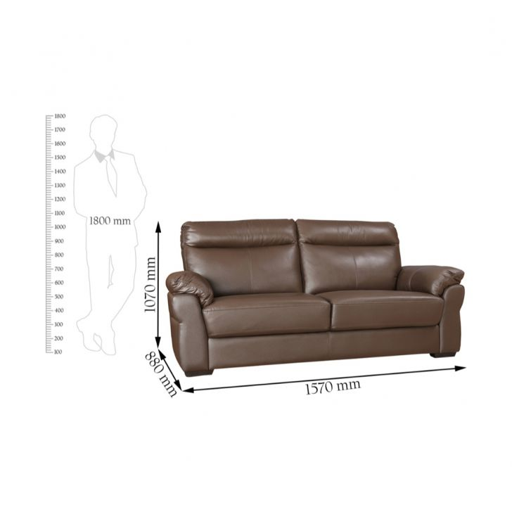 Radbourne Half Leather Two Seater Sofa,All Sofas