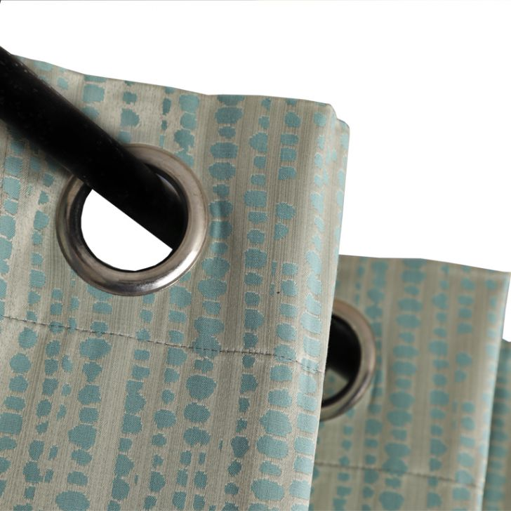 Living Essence  Door Curtain Sicily Silver Blue,Curtains