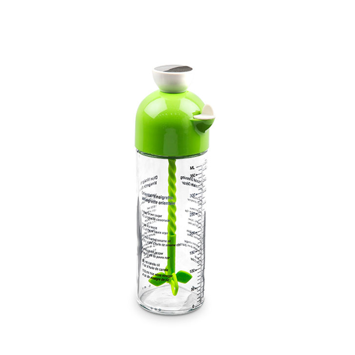 Living Essence SG Salad Dressing Shaker Green 400 ml,Containers