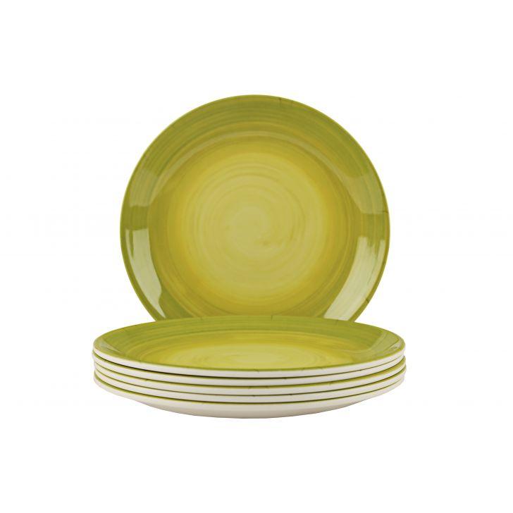 Lime Swirl Small Plate Urmi,Bowls & Plates