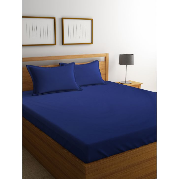 Portico Supercale Bedsheet Deep Wisteria,Double Bed Sheets