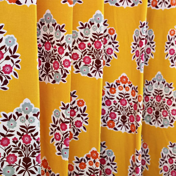 Living Essence Curtain Rio Gulmarg Mango,Curtains