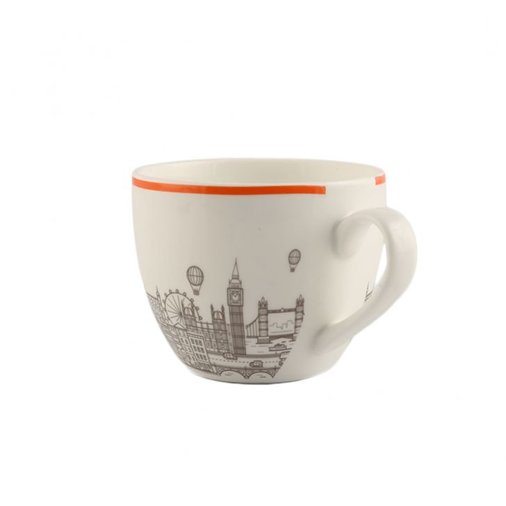 London Eye Tangelo Set Of 12 Cup & Saucer,Cups & Saucers
