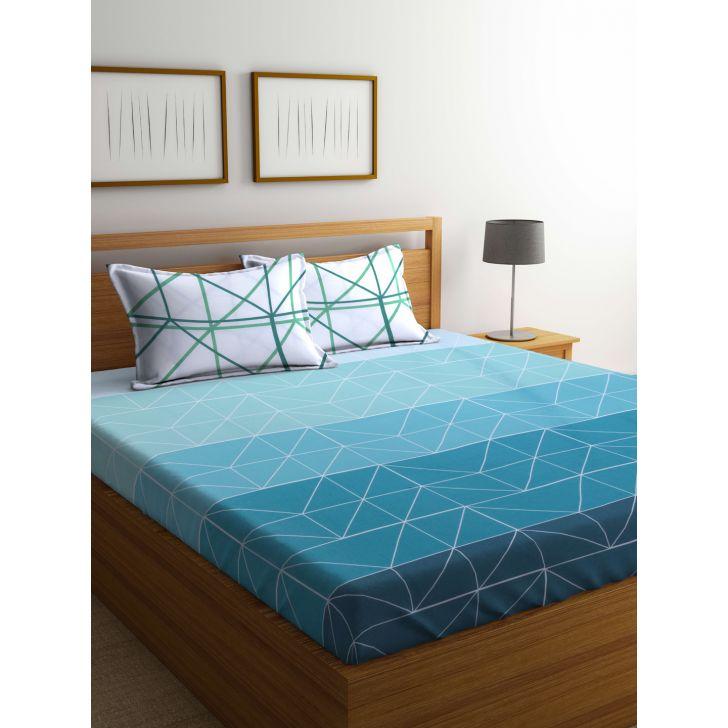 Portico Verve Bedsheet Multicolour,Double Bed Sheets