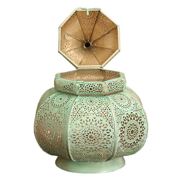 Izna Ziva Table Lantern Green,Candle Holders