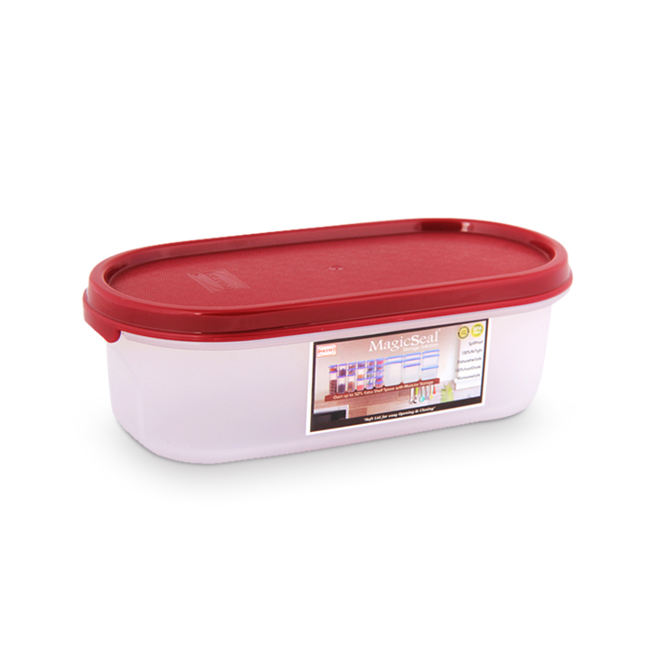 Polyset Magic Seal Container Oval Maroon 500 ml,Containers