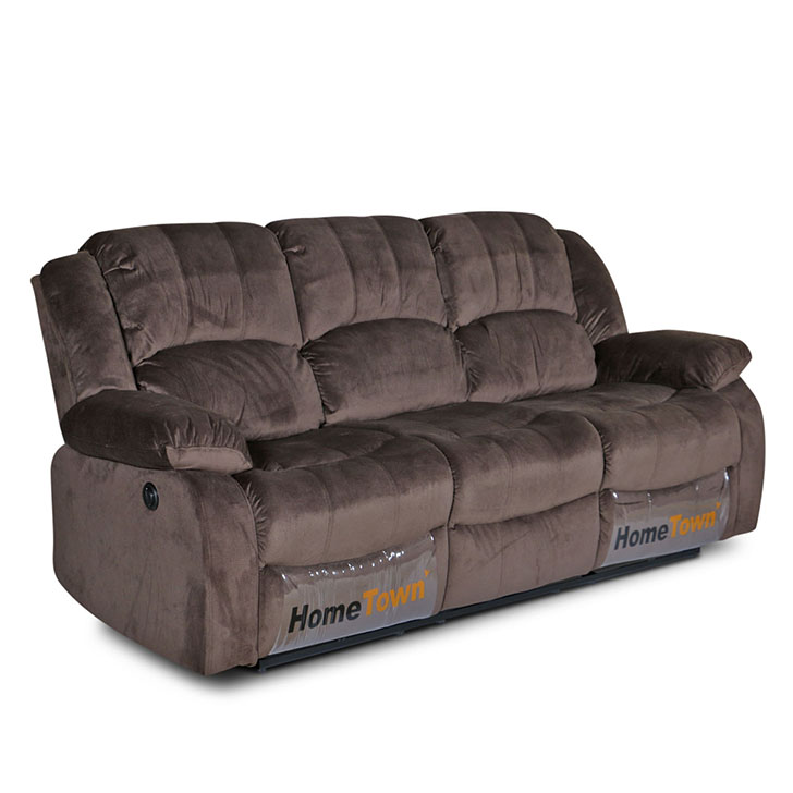 Rhea Three Seater Electric Recliner in Coffee Brown Colour,Recliners
