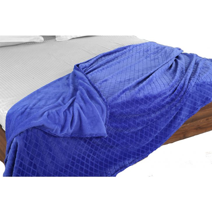 Fleece Blanket 160X220 Diamond Blue,Quilts/Blankets