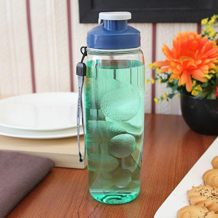 Lock & Lock Clear & Blue Sports Bottle,Bar & Drinkware