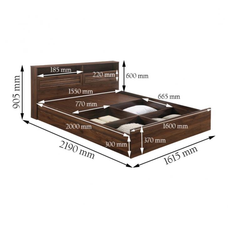 Alyssa Queen Bed With Box Storage,Furniture