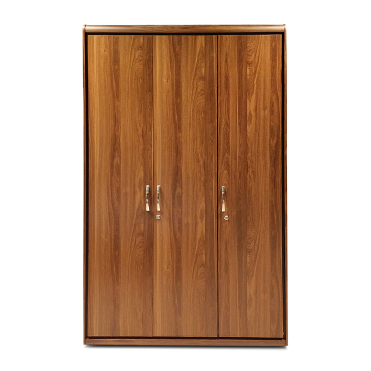 Archer Three Door Wardrobe Walnut,3 Door Wardrobes