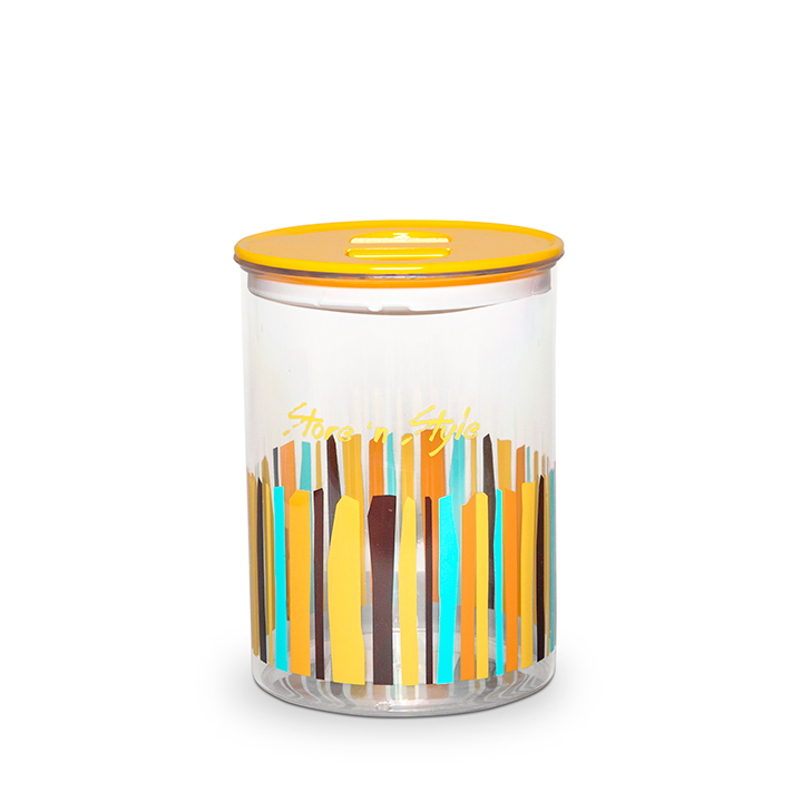 Living Essence Canister 1700 ml Mustard,Containers