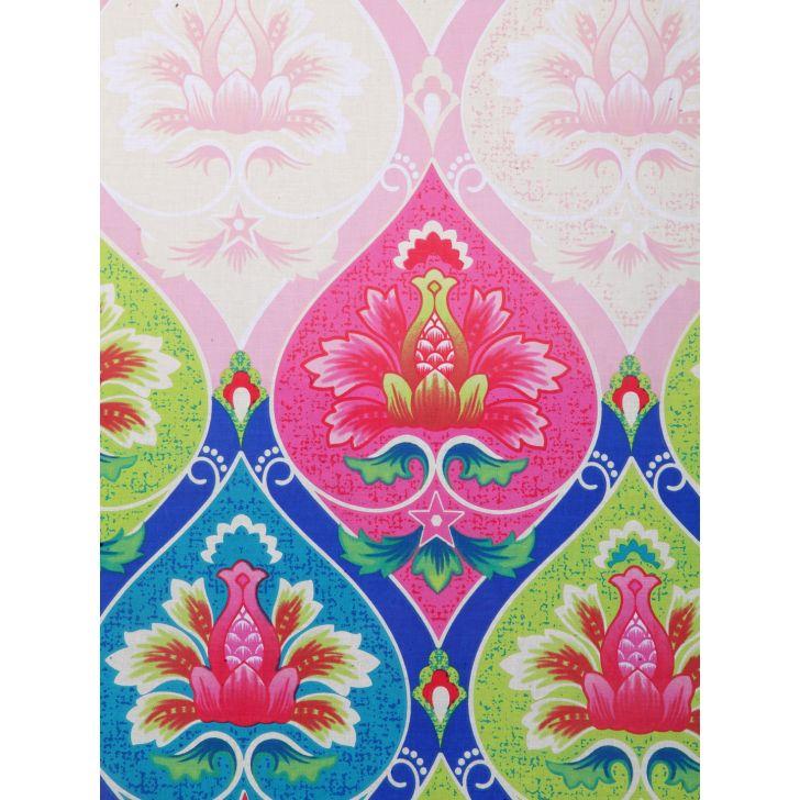 Portico Lavender Bedsheet Multicolour,Double Bed Sheets