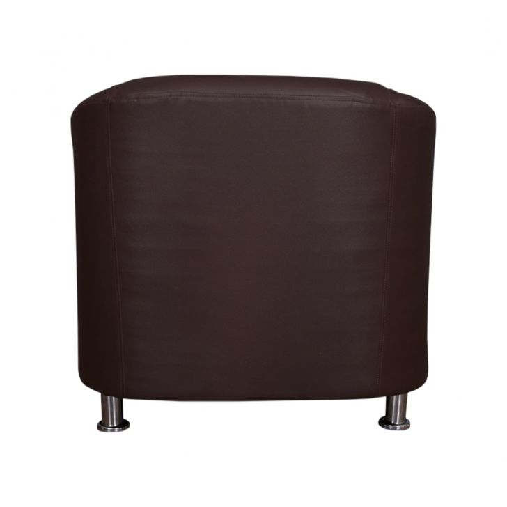 Belfast Leatherette One Seater Sofa Brown,Furniture
