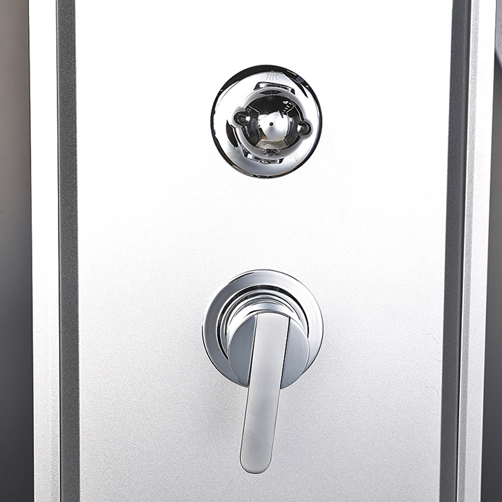 Ambra Acrylic And Glass Multifunction Shower Room With Steam Apollo White,With Steam & Whirlpool
