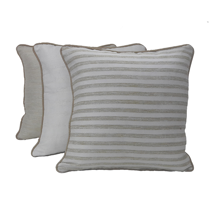 Living Essence Set Of Three Cushion Cover 16X16 Fiesta Off White,Covers & Inserts