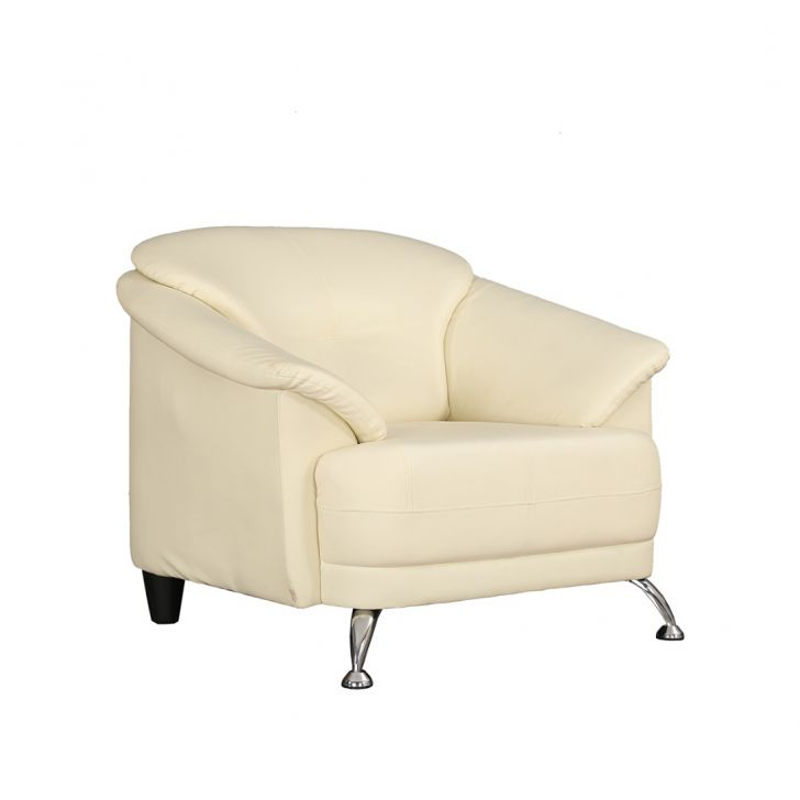 Corinth Letherette One Seater Sofa Ivory,Furniture