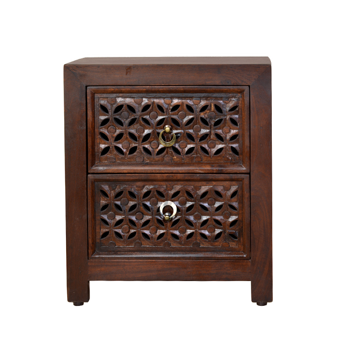Aamer Nesting Table Walnut,Bedside Tables