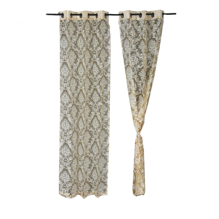 Amour Door Curtain Rose Set of 2,Door Curtains