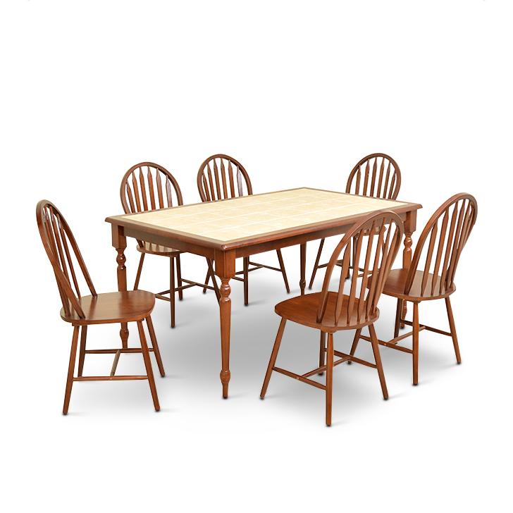 Kiera Six Seater Dining Set,6 Seater Dining Sets