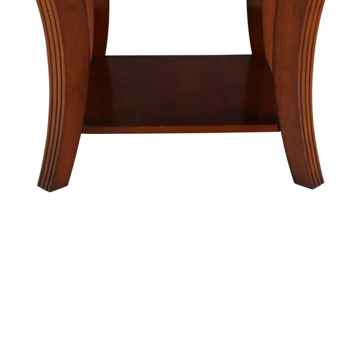 DAFFNY GLASS TOP SIDE TABLE,Side Tables