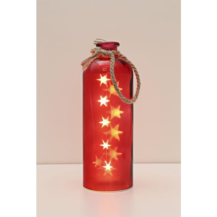 Venus Starlight Cylinder Bottle Red,Lamps & Lighting