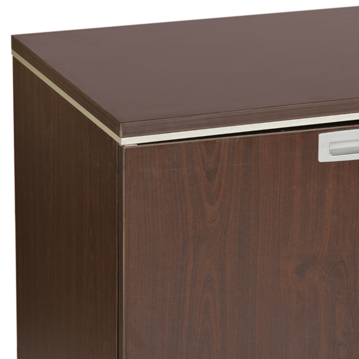 Nova Low Height Storage File Cabinet in Vermont Wenge Colour,Multipurpose Cabinet