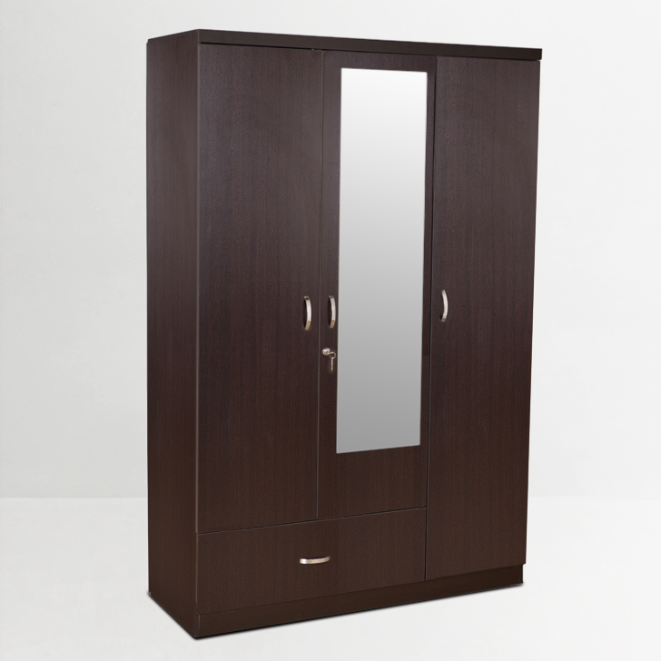 Buy Utsav Three Door Wardrobe With Mirror Wenge Online In India Ho340fu83giqindfur Www
