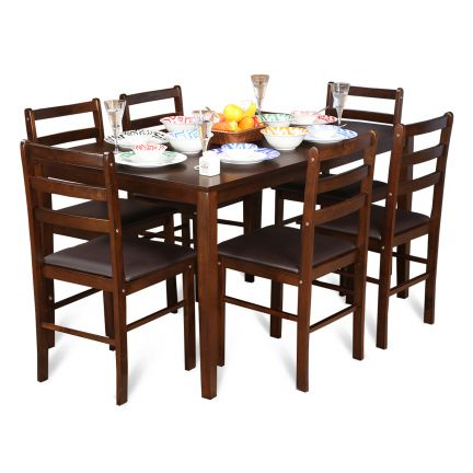 Bolton Solidwood Six Seater Dining Set,Furniture