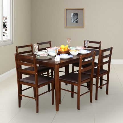 Buy Bolton Solidwood Six Seater Dining Set Online In India