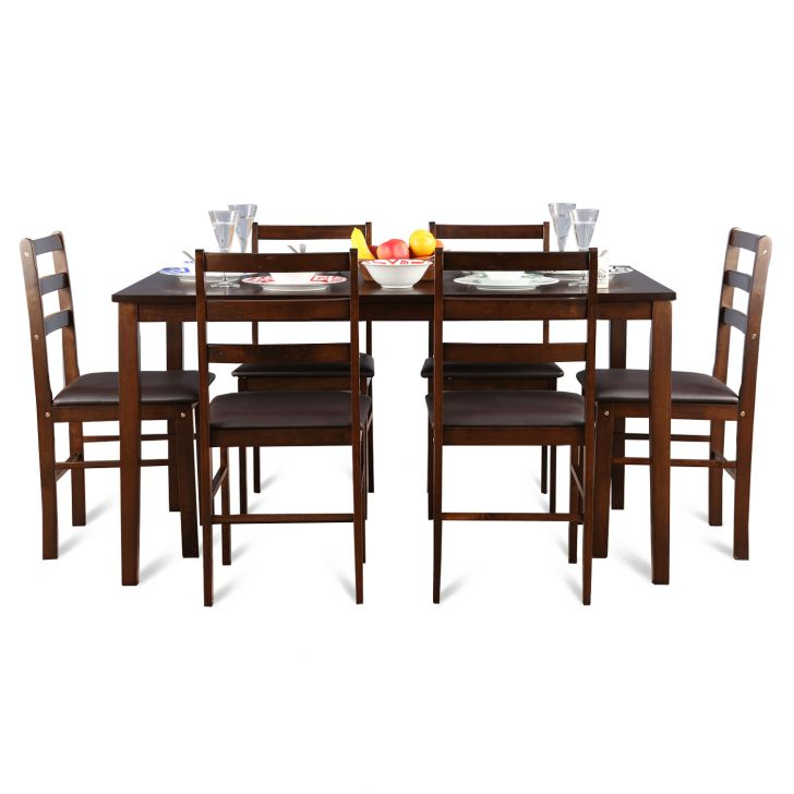 Bolton Six Seater Dining Set in Dark Walnut Finish,The Big Summer Sale