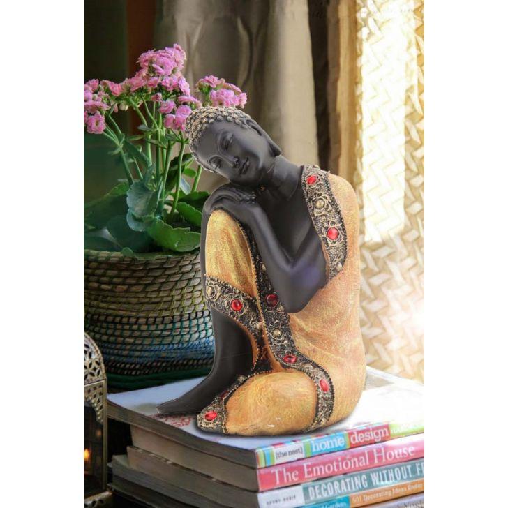 Pristine Sitting Buddha Gold,Figurines