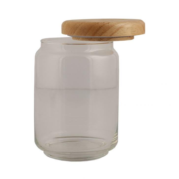 Ocean Pop Jar With Wooden Lid 750 Ml,Kitchenware
