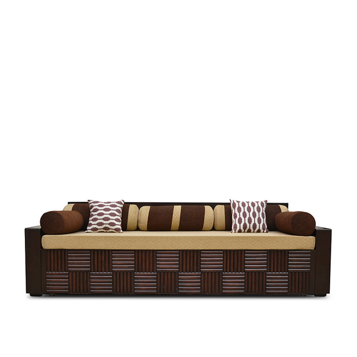 Shine Sofa Cum Bed in Brown Colour,Furniture