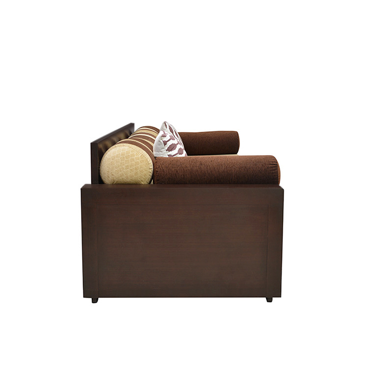 Buy shine sofa cum bed in brown colour online in india for Sofa bed 74 inches