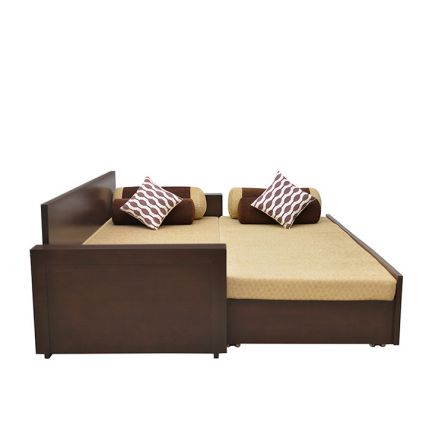 Buy shine sofa bed brown online in india for Sofa bed india