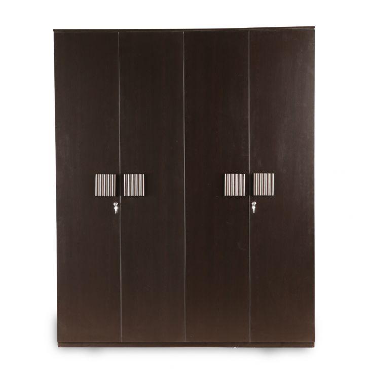 Tiago Four Door Wardrobe in Wenge Colour,All Wardrobes