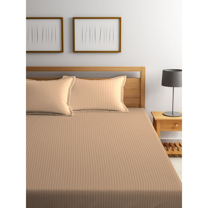 King Bedsheet Silk Satin Wheat/Beige,King Size Bed Sheets