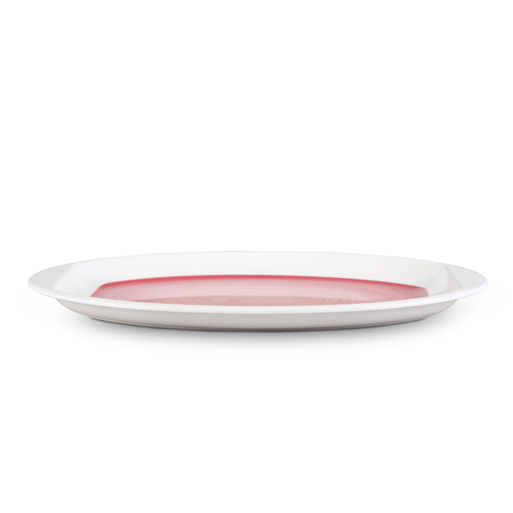Living Essence Urmi Swirled Red Serving Plate,Plates