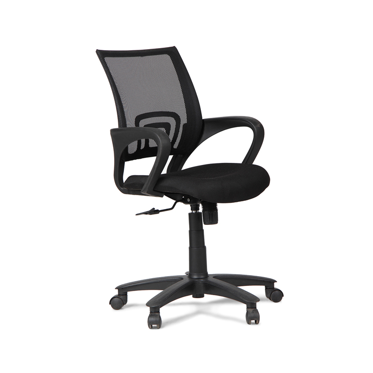 Regus Low Back Mesh Chair in Black Colour,Office Chairs