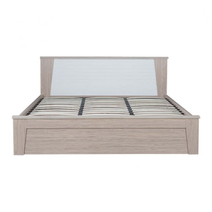Ambra King Size Bed with Hydraulic Storage in White Finish,Hydraulic Beds