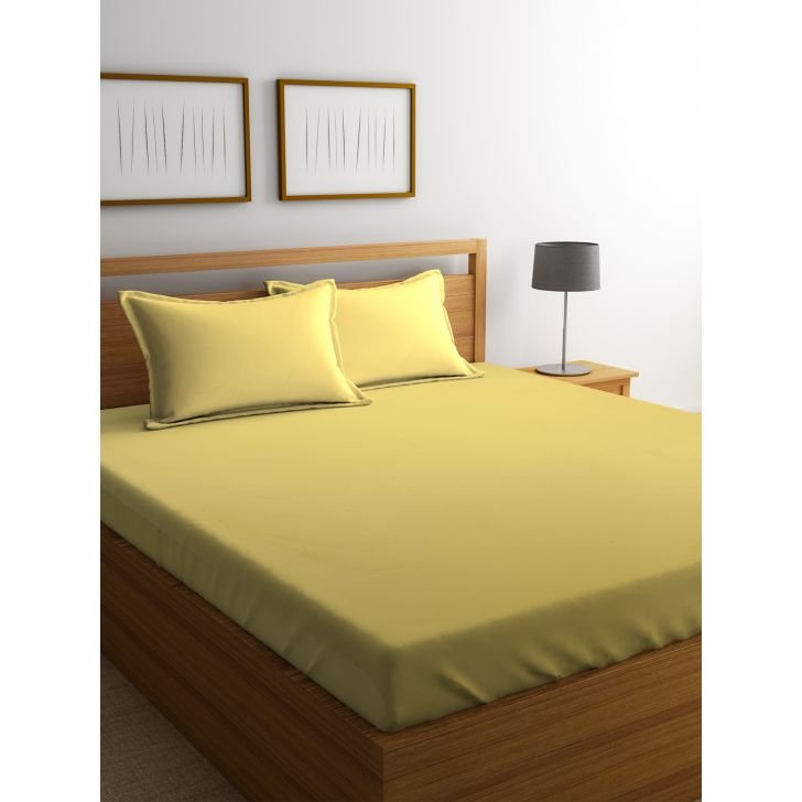 Portico Supercale Bedsheet Goldan Haze,Double Bed Sheets