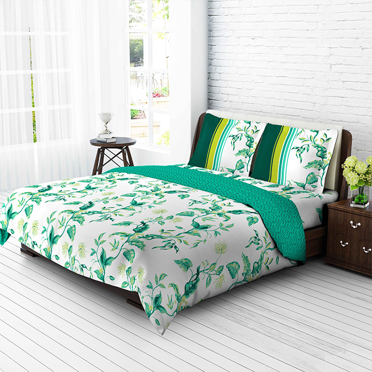 Tangerine Tangy Gold California King Bed Sheet Set Green And White,Double Bed  Sheets