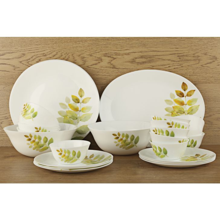Diva Autum Shadow Ivory Dinner Set Of 27 Pcs,Dinner Sets