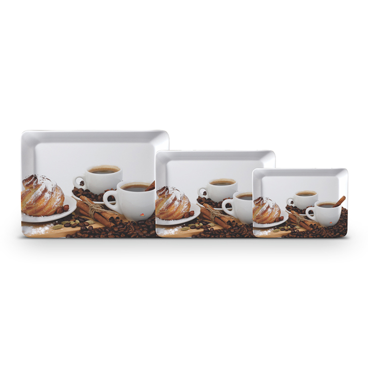 Servewell Stylo Coffee And Spice Tray Set 3 Pcs,Trays