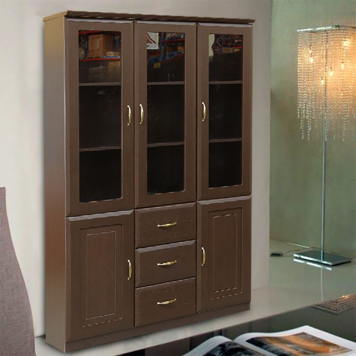 Legacy Three Door Bookcase in Wenge Colour,Book Shelves